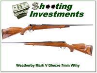 Weatherby Mark V Deluxe 7mm Wthy Exc Cond