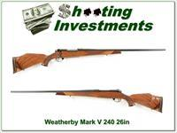 Weatherby Mark V Deluxe 26in 240 Wthy Magnum