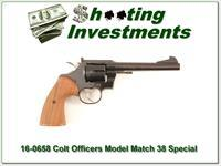 Colt Officers Model Match blued 6in in 38 Special