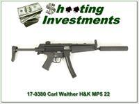 H&K Heckler & Koch MP5 22 LR by Walther