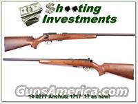 Anschutz 1717 17 HMR as new nice wood!