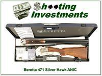 Beretta 471 Silver Hawk 20 Gauge SxS unfired in case!