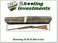 Browning 78 45-70 26in Octagonal barre in bow