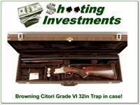 Browning Citori Grade VI 12 Gauge 32in Trap in case!