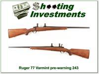 Ruger 77 Varmint HB in 243 Win Pre-Warning Red Pad!