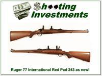 Ruger Model 77 International hard to find 243 Red Pad as new