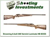 Browning A-bolt Stainless Laminated Varmint 308 Win as new BOSS