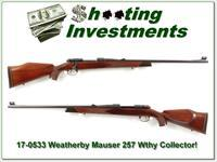 Weatherby 257 Wthy 1958 Mauser Collector!