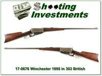 Winchester 1895 in hard to find 303 British 1915 28in