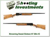 Browning A5 Sweet Sixteen 67 Belgium Blond 26in IC