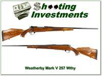 Weatherby Mark V Deluxe 257 Wthy as new