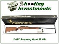 Browning Model 52 22 Rimfire in box!