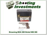 Browning BDA 380 Nickel NIB!