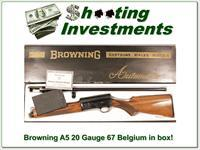 Browning A5 20 Gauge 67 Belgium in box!