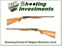 Browning 22 Auto takedown 67 Belgium Blond Exc Cond!
