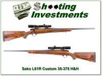 Sako L61R Custom 35-375 H&H Magnum Burris scope