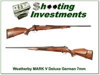 Weatherby Mark V Deluxe 7mm Wthy Mag German!
