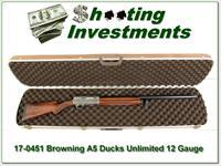 Browning A5 12 Gauge DU XX Wood in case