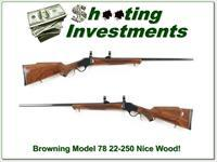 Browning Model 78 22-250 octagonal barrel nice wood!