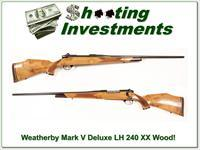 Weatherby Mark V Deluxe LH 240 Wthy mag Blond wood!