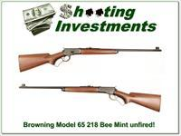 Browning Model 65 218 Bee unfired