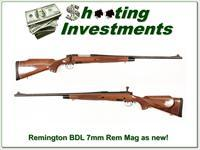 Remington Model 700 BDL 7mm Rem Mag as new!