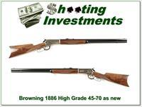 Browning 1886 Hi-Grade 45-70 Montana 26in Octagonal as new!
