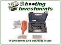Beretta 92 FS 92FS USA Made 5 MAGS!