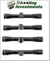 Leupold 4X Gloss Rimfire Special scope with covers