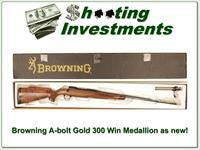 Browning A-bolt Gold Medallion 300 Win new condition!