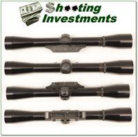 "Browning rimfire ¾"" 4X Rifle Scope Exc Cond"