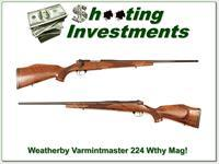 Weatherby Mark V Varmintmaster 224 Wthy looks new!