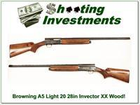 Browning A5 Light 20 28in Invector XXX Wood!