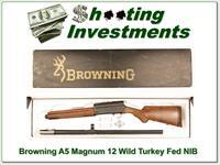Browning A5 Magnum 12 Wild Turkey Federation NIB!