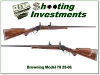 Browning Model 78 in hard to find 25-06 HB