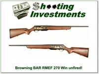 Browning BAR 270 Win Mag Rocky Mountain Elk Foundation!