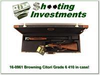 Browning Citori Grade 6 410 VI near new in case