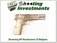 Browning HP 9mm Renaissance 72 Belgium as new!
