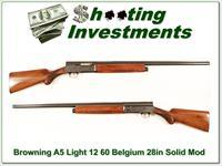 Browning A5 Light 12 60 Belgium 28in Solid Rib
