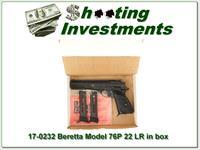 Beretta Model 76 76P 22LR 3 Magazines and manual!