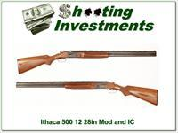 Ithaca Model 500 by SKB 12 Gauge 28in Exc Cond!