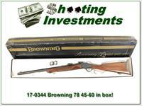 Browning 78 Exc Cond in box in 45-60