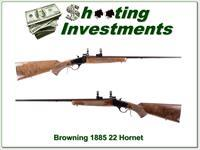 Browning 1885 Low Wall in 22 Hornet Ext Cond