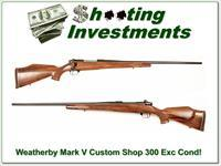 Weatherby Mark V Deluxe Custom Shop 26in!