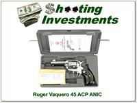 Ruger Vaquero Stainless 45 ACP NIC!