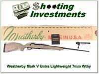 Weatherby Mark V Ultra Lightweight 7mm Wthy Mag