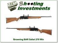Browning BAR Mark II Safari 270 Win Exc Cond!