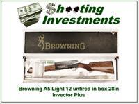 Browning A5 Light 12 Classic new, unfired 28in Invector in box!