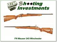 FN Mauser in rare 243 Win made in the 50's