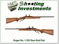 Ruger No. 1 Red Pad in 223 Remington near new!